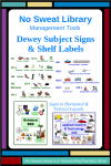 Make it easier for students to find a Dewey book in your school library with these colorful, pictorial signs and shelf labels. They're just what you need for your middle school or elementary library!