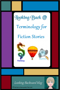 "Looking Back @ Terminology for Fiction Stories - Students need consistency in the library. Your online book catalog uses the term 'Subject' search, we use the word 'Subject' to explain the Dewey Decimal System, students refer to their class 'Subjects.' It's our job as school librarians to make our libraries kid-friendly, so using the term ""Subjects"" to describe the organization of my Fiction area has made a huge difference for my middle school students as they search for and locate books to read."