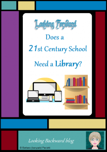 Looking Forward: Does a 21st Century School Need a Library? - Certainly a high-tech modern school doesn't need the kind of library that has been the norm for the past 50 years because the world we live in now has much different needs for educating our students. But a School Library with a certified School Librarian is critical for meeting the needs of today's youth.