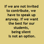 School Library Design: If we are not invited to contribute, we have to speak up anyway. If we want the best for our students, being silent is not an option.
