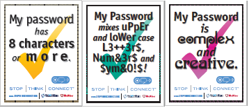 Password Protection Posters from StaySafeOnline.org