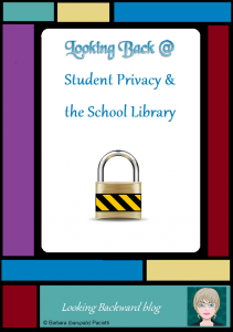 "Looking Back @ Student Privacy & the School Library - All educators, including school librarians, need to be aware of the 3 Federal laws governing student rights and privacy, especially regarding online access: FERPA, COPPA, and CIPA. Learn more & download the FREE reference PDF ""Internet Laws In A Nutshell."" #digitalliteracy #teacherprofessionaldevelopment #onlinelearning"