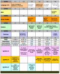 My Library Lesson Curriculum Matrix - Composite example of an older version for the 1st grading period.