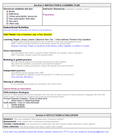 NoSweat Library Lesson Planner - page 2