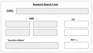 clip of keyword search form