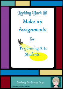 """Looking Back @ Make-up Assignments for Performing Arts Students - When performing arts students miss a performance, teachers often send students to the library to do a research paper as a make-up assignment. Read how School Librarians can turn this """"punishment"""" into an alternative """"performance"""" by asking 3 key questions and using some unconventional resources and tools! #libraryresearch #schoollibrary #performingarts #band #choir #orchestra #theater #middleschool #makeupwork #techintegration"""