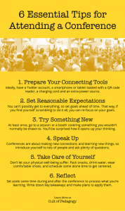 6 Essential Tips for Attending a Conference from Cult of Pedagogy