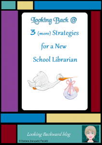 Looking Back @ 3 (more) Strategies for a New School Librarian - A month ago I offered 3 Strategies for a First-Time School Librarian: learn everything, listen to everyone, and leave things as they are. Today I want to share 3 more strategies for a New School Librarian that focus specifically on Library Lessons: use my Library Lesson Planner Template, partner with the local Public Library's Youth Services Librarian, and follow some simple Classroom Management Tips to handle your much larger learning space (and often much larger groups of students!).