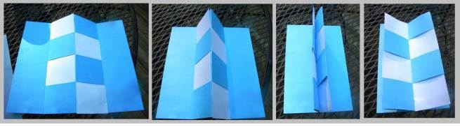 """basketweave foldable finished & showing the """"magic secret pages"""""""