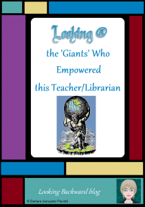 "Looking @ the 'Giants' who Empowered this Teacher/Librarian - True mentors empower us to make a difference in the lives of students and teachers. Sir Isaac Newton captured my thoughts perfectly: ""If I have seen further, it is by standing on the shoulders of giants."" This blog post is dedicated to the 'giants' who have influenced my life."
