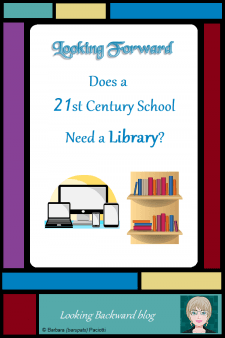 Looking Forward: Does a 21st Century School Need a Library? - Certainlya modern school doesn't needthe kind of library that has been the norm for the past 50 years because the world we live in now has much different needs for educating our students. But a School Library with a certified School Librarian is critical for meeting the needs of today's youth. #NoSweatLibrary #schoollibrary #21stcenturyschool #librarycollection