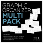Graphic Organizer Multi Pack from Cult of Pedagogy on Teachers Pay Teachers. Only $6