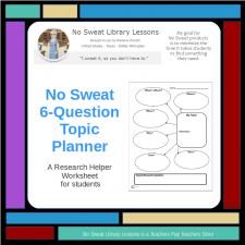 NoSweat 6 Question Topic Planner available in my TeachersPayTeachers store