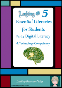 Looking @ 5 Essential Literacies for Students: Part 4-Digital Literacy & Technology Competency - In our modern world students need to understand and be proficient in 5 Essential Literacies, and School Librarians need to integrate at least one Library Literacy component into every class visit. In Part 4 we look at Library Lessons that help build the Digital Literacy & Technology Competency that students need to be successful with current and future coursework.