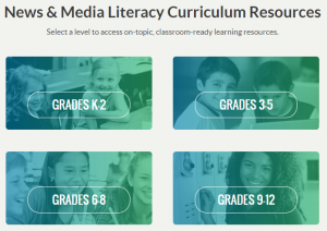 Common Sense Education's News & Media Literacy Curriculum Resources