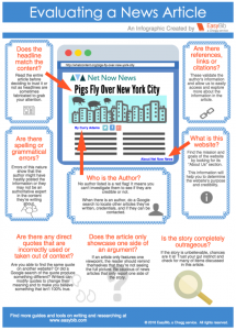 Identifying Fake News: An Infographic and Educator Resources
