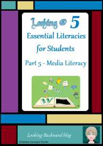 Looking @ 5 Essential Literacies for Students: Part 5-Media Literacy - In our modern world students need to understand and be proficient in 5 Essential Literacies, and School Librarians need to integrate at least one Library Literacy component into every class visit. In Part 5 we look at Media Literacy as a way that students can be successful in future coursework and as global citizens.