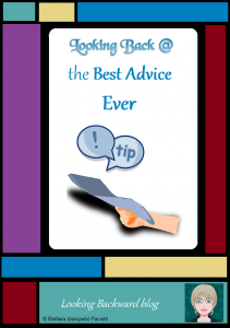Looking Back @ the Best Advice Ever - I get wonderful ideas from staff meetings, professional trainings, seminars, conferences, and planning sessions, but the best advice I've gotten about my job has been from the most unlikely of people and incidents!