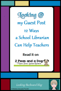 """Looking @ my Guest Post """"12 Ways a School Librarian can Help Teachers"""" on 2 Peas and a Dog - I am so grateful to Kristy Avis, Canadian educator and blogger of 2 Peas and a Dog for inviting me to write a guest post about School Librarians. Please support Kristy and me by reading..."""