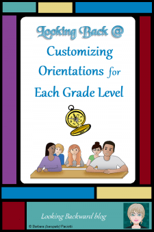 Looking Back @ Customizing Orientations for Each Grade Level - A library orientation sets the tone for the entire school year. Here's how I customize my first visit with returning students at each grade level to rejuvenate their interest in the library. #NoSweatLibrary #libraryorientation #ELA #reading #fiction #middleschool #readingpromotion
