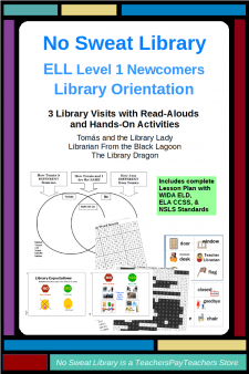 ELL Level 1 Newcomer Library Orientation pin image