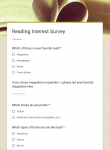 Ridgeway HS Library Reading Interest Survey