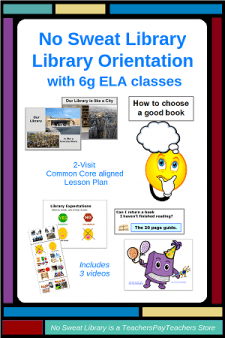 A 2-visit Library Orientation customized for 6g students who are new to the school. This Common Core & NSLS aligned Lesson Plan with English Language Arts classes is focused entirely on Reading and Narrative literature. Contains Lesson Plan, 2 slide presentations, 2 PDFs slideshows & 3 MP4 videos, PDF presenter Notes, 2 student Activity worksheets, and a Fiction Subjects bookmark template. #NoSweatLibrary #libraryorientation #ELA