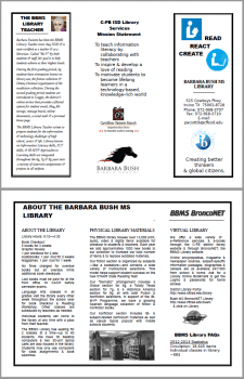 Library Information Brochure for Parents - How parents can help their kids achieve greater success by using library resources.