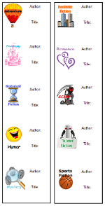 image of Fiction Subjects bookmark