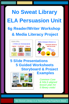 NoSweat ELA Persuasive Unit for 6th Grade (as Reader Writer Workshops)