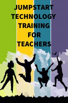 JumpStart Your Technology Training for Teachers - School Librarians can help teachers integrate technology into their lessons by providing customized multimedia technology training or encouraging enrollment in Cult of Pedagogy's JumpStart online course. #NoSweatLibrary #schoollibrary #technologytraining #CultofPedagogyJumpStart