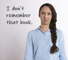 avoidance-I don't remember that book