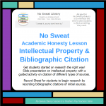 product cover for No Sweat Library Academic Honesty-Intellectual Property & Bibliographic Citation