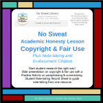 product cover for No Sweat Library Academic Honesty Lesson-Copyright & Fair Use