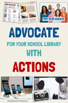 Promote the School Library With Your Actions, Not Words - Here are 10 informal ways we can advocate for our school library program and show the importance of having a certified school librarian! #NoSweatLibrary