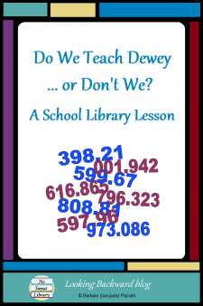 Do We Teach Dewey ... or Don't We? A School Library Lesson - I don't teach the Dewey Decimal Classification System and you don't have to either. There's a better way to teach students how to find a book in our School Libraries and it supports Math. Read on to find out how I do Dewey... #NoSweatLibrary