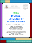 Digital Citizenship Lesson Planner - List of resources and suggestions for teaching activities. #NoSweatLibrary