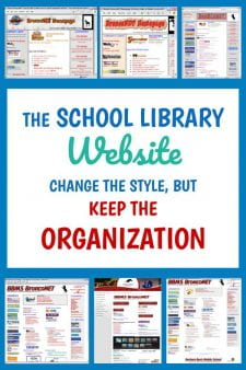 A Virtual Workspace: The School Library Website - We can help students find & use our online resources with good organization of the School Library Website. We may change the style each year, but we don't want to confuse students with radically new organization. #NoSweatLibrary