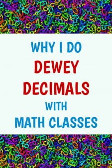 Dewey Decimal Orientation with Math Classes - What better class for a lesson on numbers than Math? #NoSweatLibrary