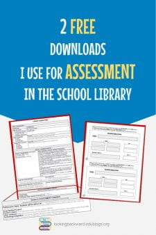 Get these FREE downloads to help with Assessment in the School Library - I offer 2 assessment tools I use in my school library: my Library Lesson Planner with a section to develop assessment, and my Keyword Search Form to help students formulate a fruitful search strategy. Read the blog post and download the freebies! #NoSweatLibrary