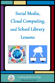 """Social Media, Cloud Computing, and School Library Lessons - Lessons using social media are abundant, but School Librarians need to inculcate the wider concept of """"cloud computing"""" so students truly understand such technology. This model for teaching the elements of cloud computing makes tech integration more effective. #NoSweatLibrary"""