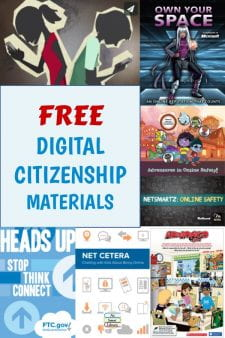 Get FREE Digital Citizenship Materials For Your Students - The U.S. government & several non-profits provide schools with FREE lesson guides, videos, and bulk orders of digital citizenship handouts for students. Learn more here... #NoSweatLibrary