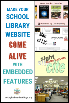 Add Embedded Features to Your School Library Website! - Embedding resources into our School Library Website creates a more engaging experience for users, and also advocates for the School Library and the School Librarian as essential to the school community. #NoSweatLibrary