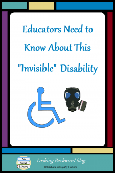 """Educators Need to Know About This """"Invisible"""" Disability - The Americans with Disabilities Act considers Multiple Chemical Sensitivity a disability. School Librarians and teachers who daily interact with students who suffer from this """"invisible"""" condition may be surprised how dangerous your perfumes and air fresheners can be. #NoSweatLibrary"""