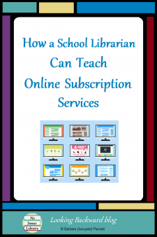 How a School Librarian Can Teach Online Subscription Services - Here are 3 ways School Librarians can introduce specific relevant features of subject and grade-level appropriate resources to teachers & students to support classroom content learning, along with a review of how to use them correctly. #NoSweatLibrary