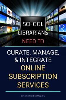 School Librarians Are (Online) Information Specialists - It's our responsibility as School Librarians to know what each of our online subscription services offer, and to determine when and with whom to use each feature of each resource. Here's how I do it... #NoSweatLibrary