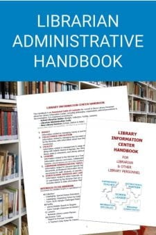 Improve School Library Management with this Helpful Tool - This School Librarian Handbook is a comprehensive content management tool for a busy librarian. The expandable document is an annotated Table of Contents, organized according to the policies & procedures typical for a school library program. Get it at No Sweat Library, my TeachersPayTeachers store. #NoSweatLibrary