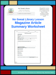 NoSweat Magazine Article Summary Worksheet