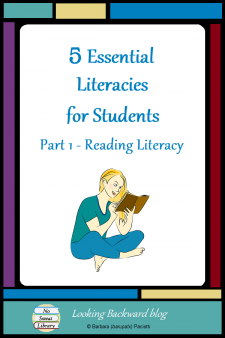 5 Essential Literacies for Students: Part 1 Reading Literacy - Our students need to be proficient in 5 Essential Literacies and School Librarians can integrate a Library Literacy component into every class visit. In Part 1 we look at incorporating Reading, the original literacy, into library visits. #NoSweatLibrary