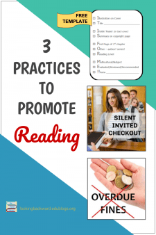 3 School Library Practices to Promote Reading - Read about 3 practices I use in my middle school library to encourage students to enjoy reading and check out more books! FREE download of my IT IS FOR ME book chooser 'app' from my Librarian Resources page. #NoSweatLibrary